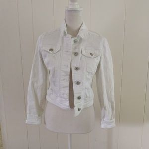 White Jean jacket size small